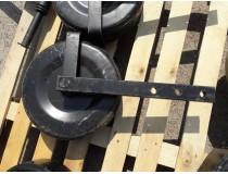 Колесо левое с стойкой однорядной картофелекопалки Wirax, Bomet